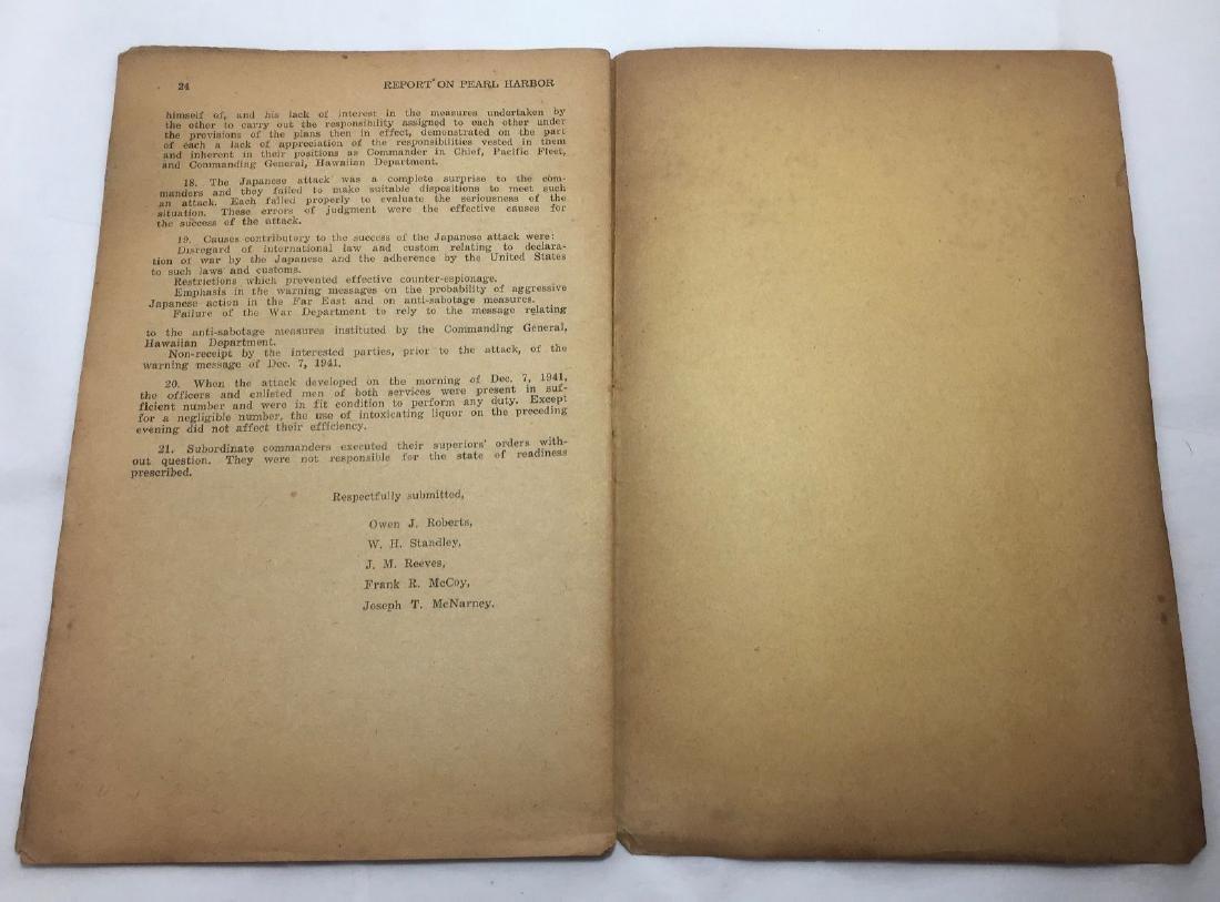 Vintage c1940s Roosevelt's WWII Pearl Harbor Commission - 4