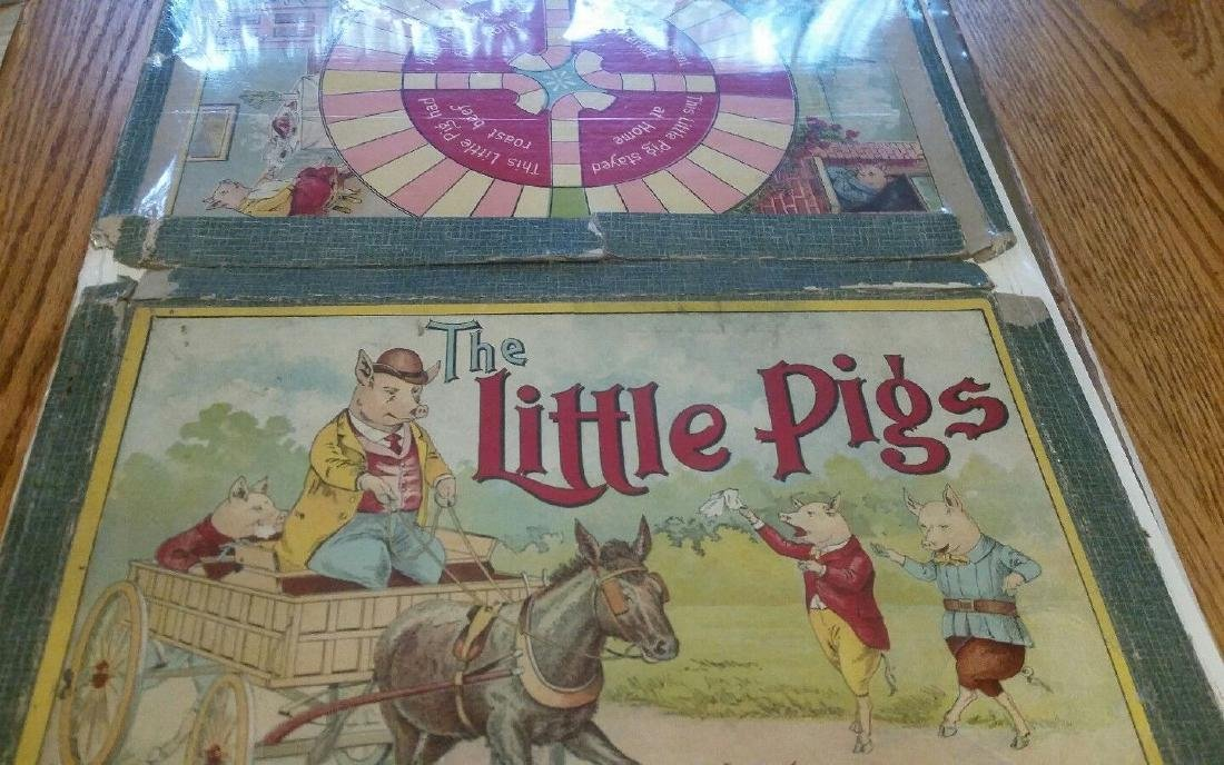 Little Pigs Board Game Great Graphics 1915 Parker