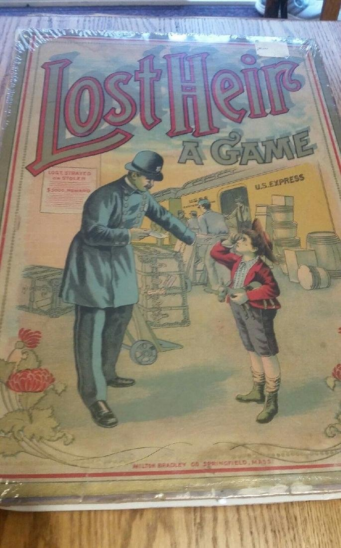 Lost Heir Board Game Police Train 1915 Graphics Milton