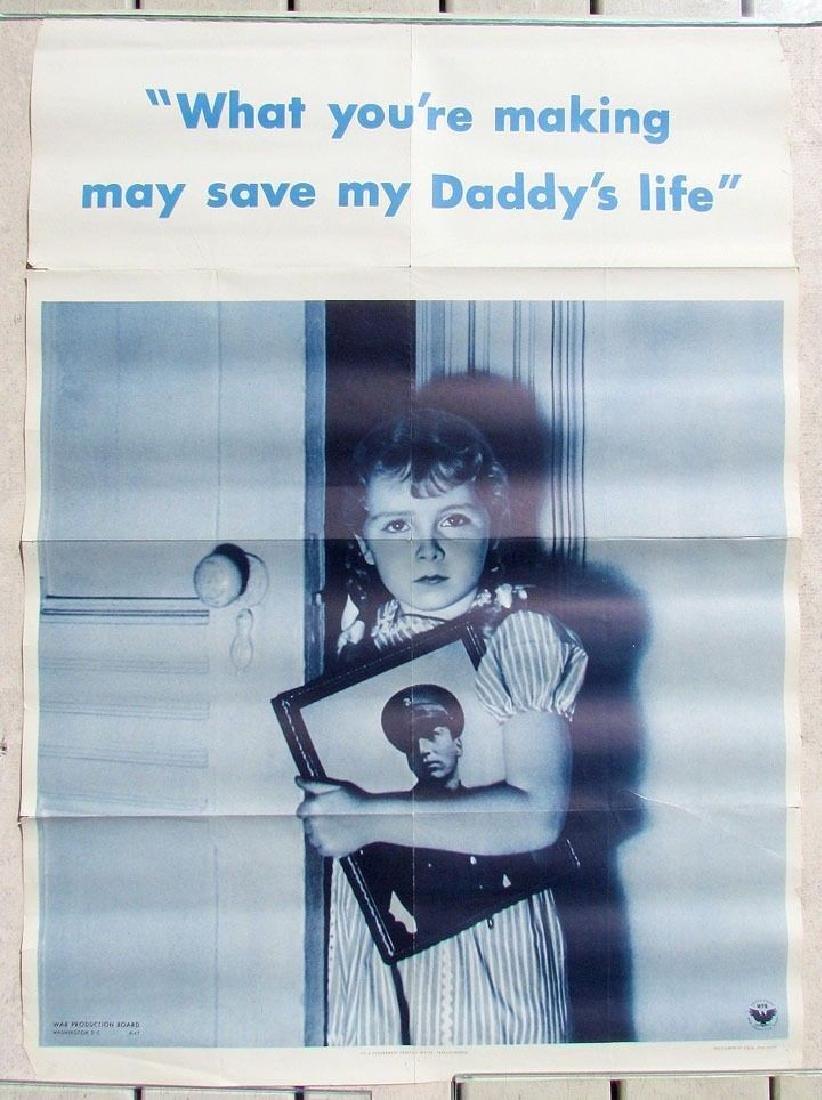 1942 US WWII Era Military Propaganda Poster