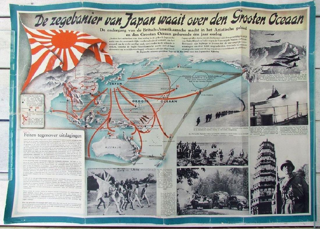 1940s WWII Era Dutch Netherlands Propaganda Poster