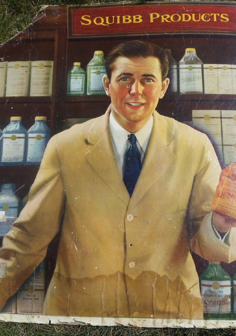 1930 Squibb Poster Great Graphics Pharmacist