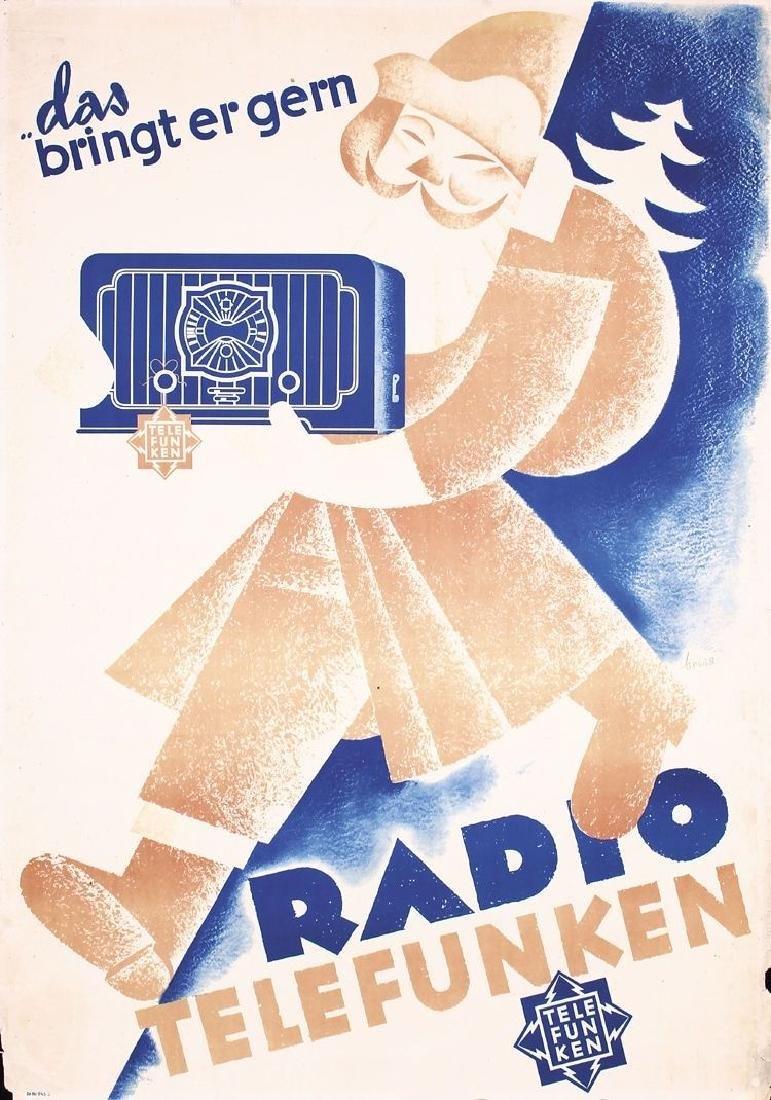 Vintage Original 1935 German Radio Telefunken