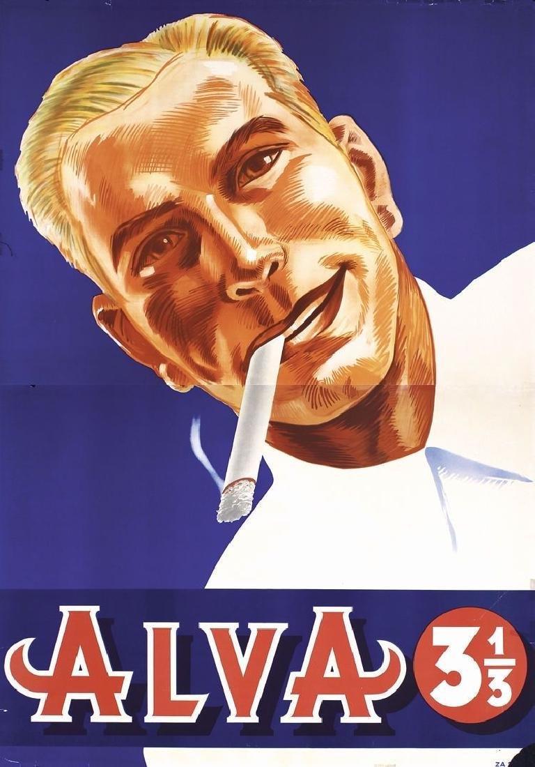 Vintage Large Original 1935 German Alva Cigarettes