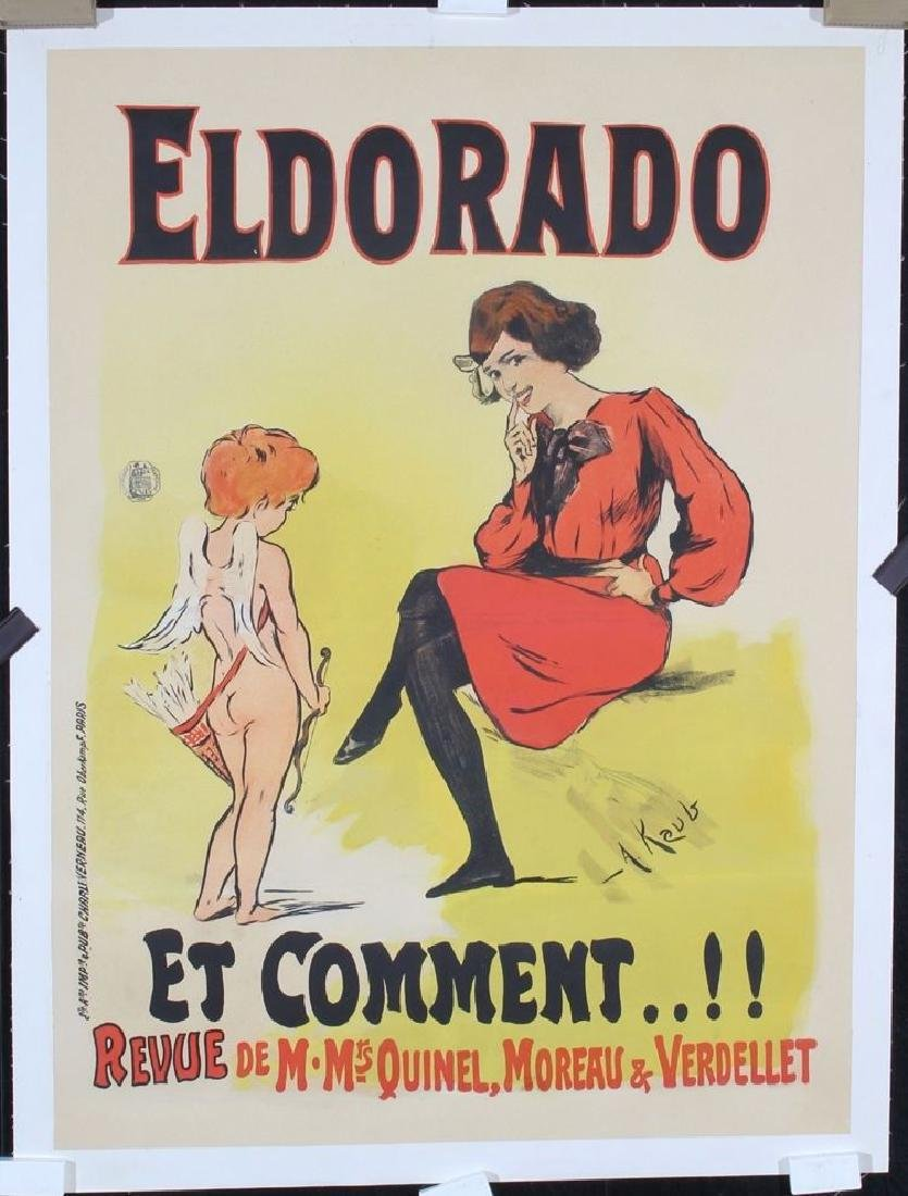 Antique Original 1890-1900 French Theater Advertising