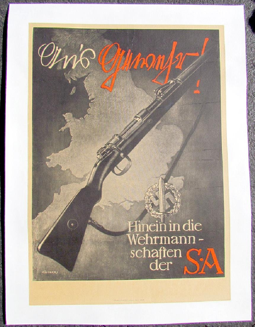 German WWII Nazi Era Military Propaganda Poster