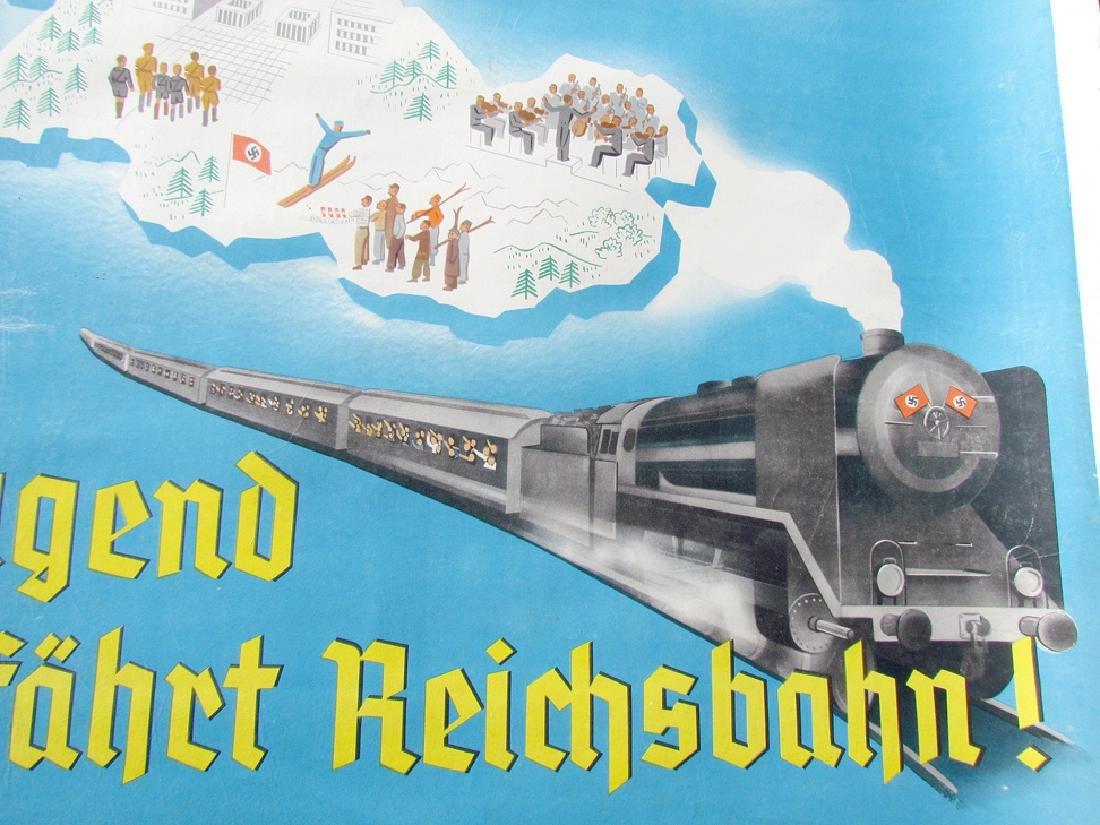 German WWII Era Nazis Poster - Train Advertisement - 2