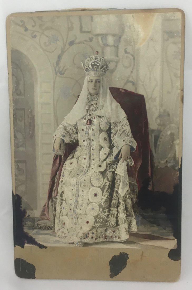 Antique 1903 Czarina Alexandra Romanov Winter Palace