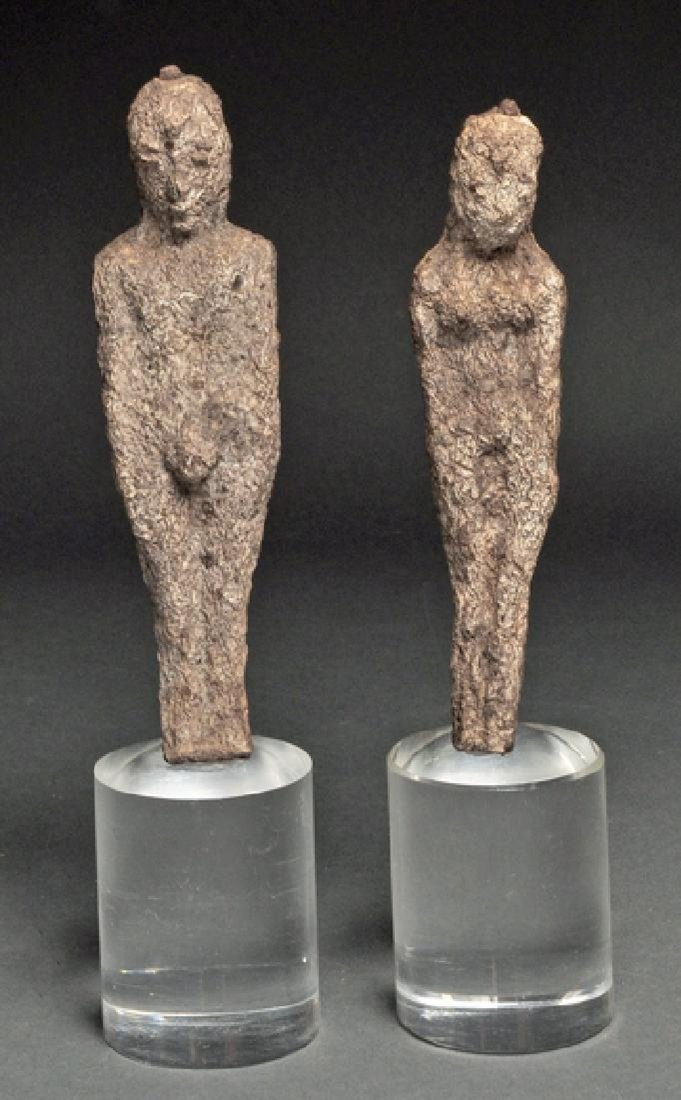 Cambodian tribal healing dolls (male & female)