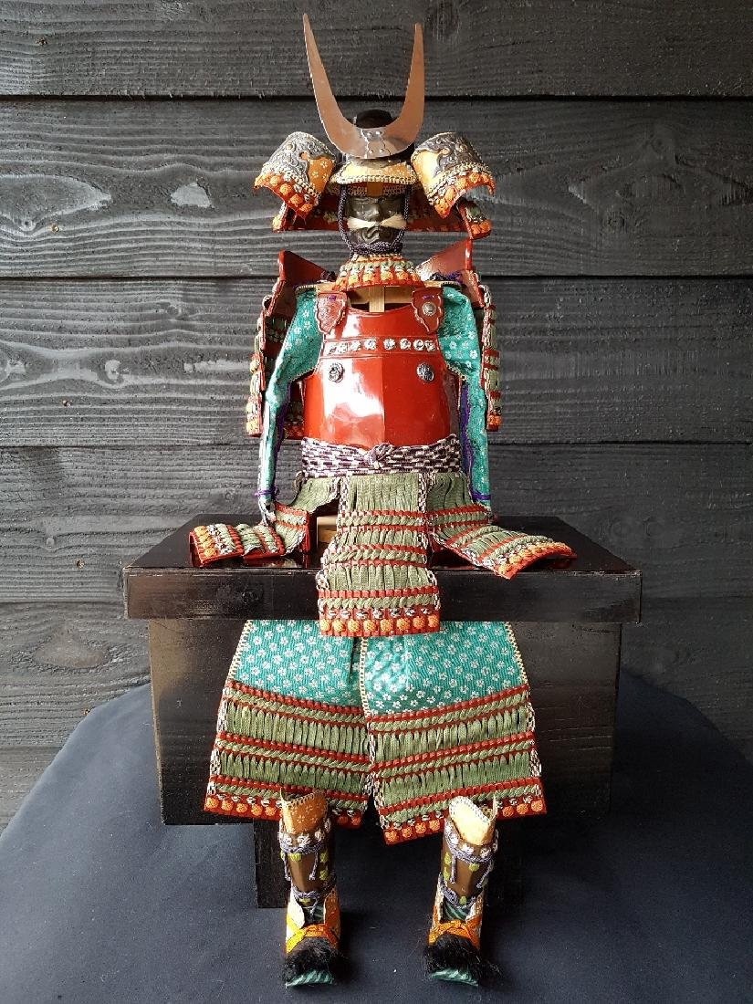 Japanese Edo Samurai Doll in Full Armor