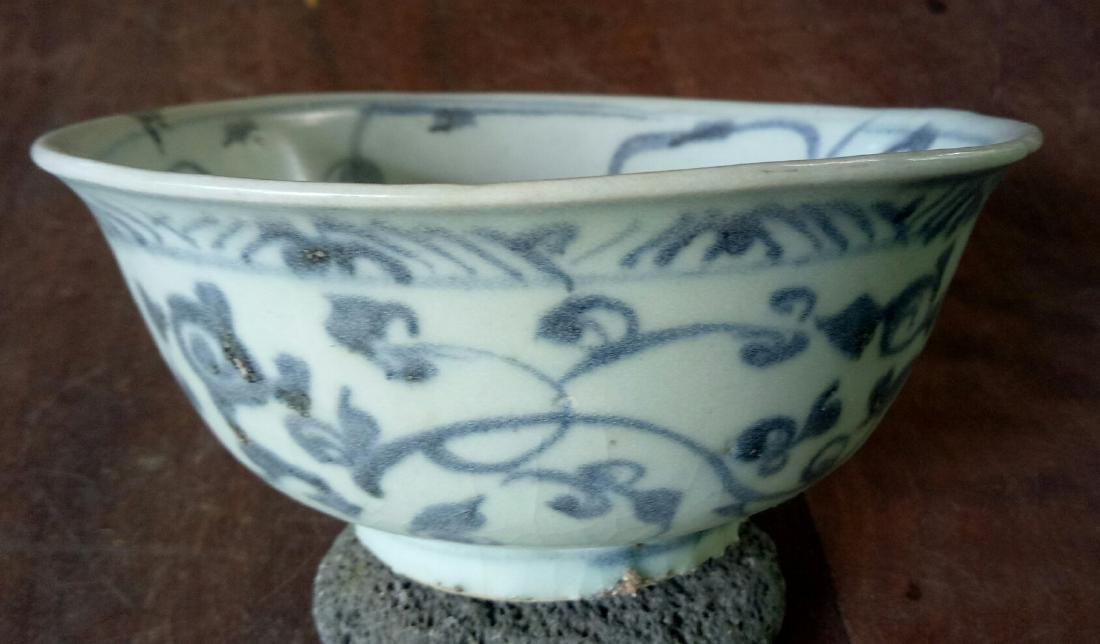 Chinese Ming Dynasty Bowl With Floral Motive