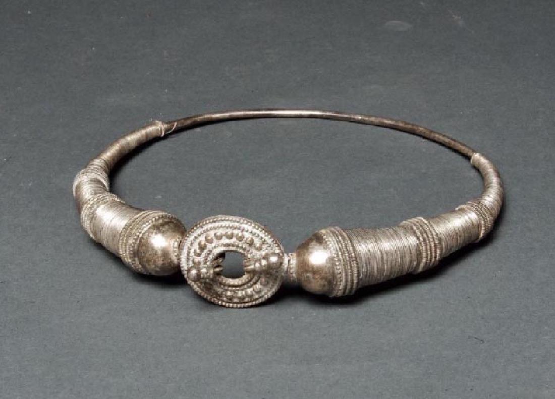 Indian Rajasthan Silver Hasli Vadho Choker