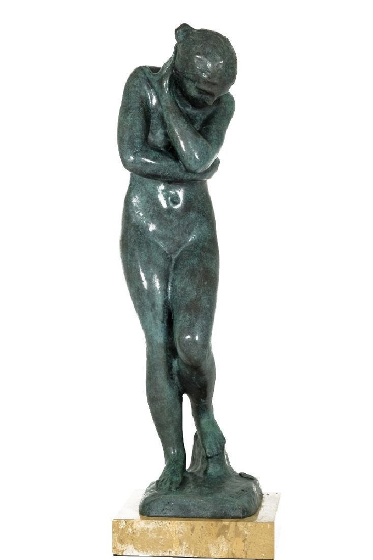 Bronze sculpture of 'Eve' after Auguste Rodin