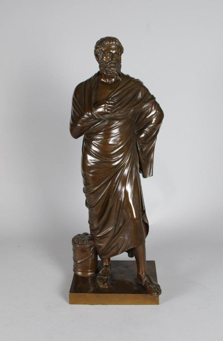 Bronze Figure of Sophocles, France 19th C