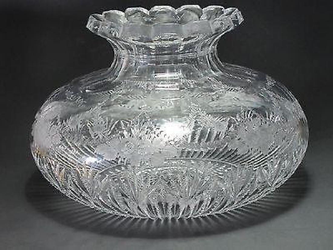 American Brilliant Period Sinclaire Cut Glass Vase