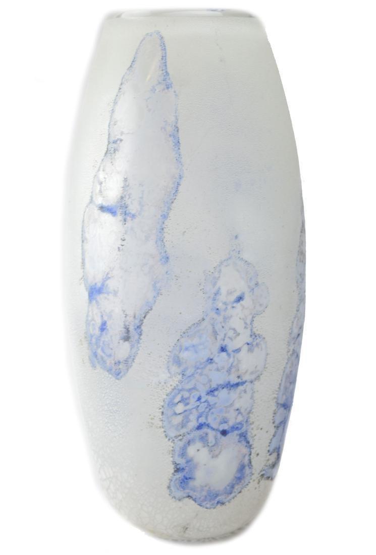 Alfredo Barbini Murano Glass Scavo Vase