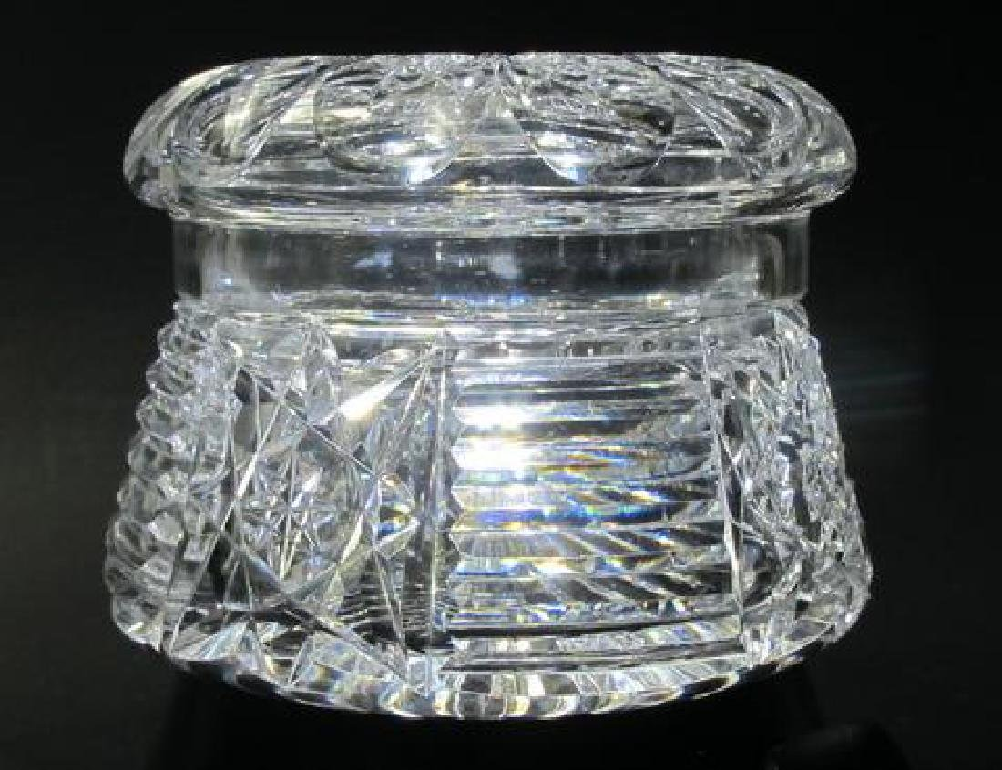 Dresser box American Brilliant Period Cut Glass crystal