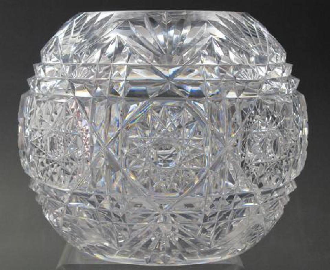 ABP cut glass rose bowl , Antique crystal