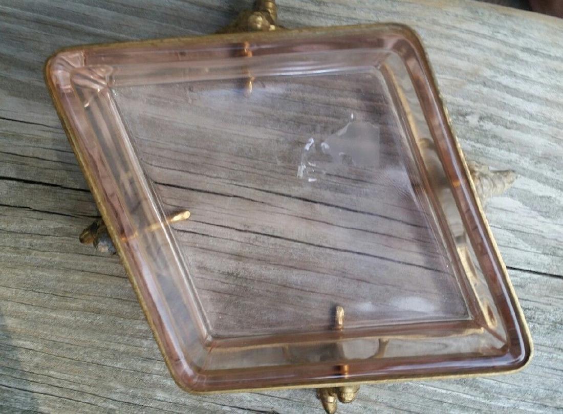 Art Deco Dish Metal Glass Figural Flapper Girls - 2