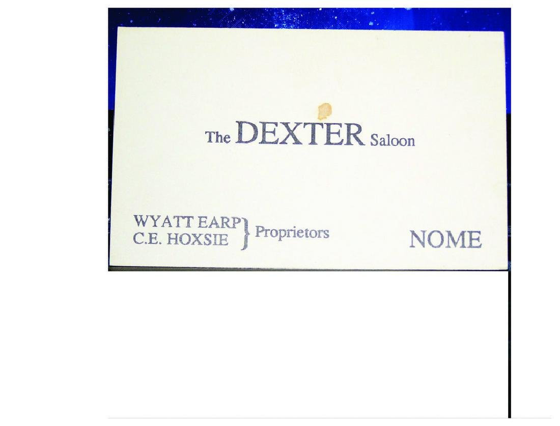 Wyatt Earp Business Card, 1899