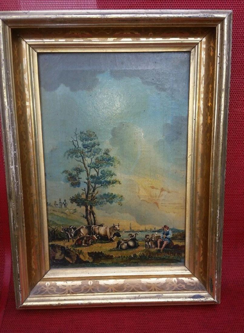 19th Century Oil on Canvas Folk Art Painting