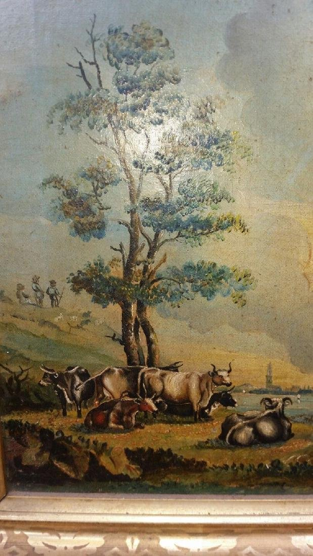 19th Century Oil on Canvas Folk Art Painting - 2