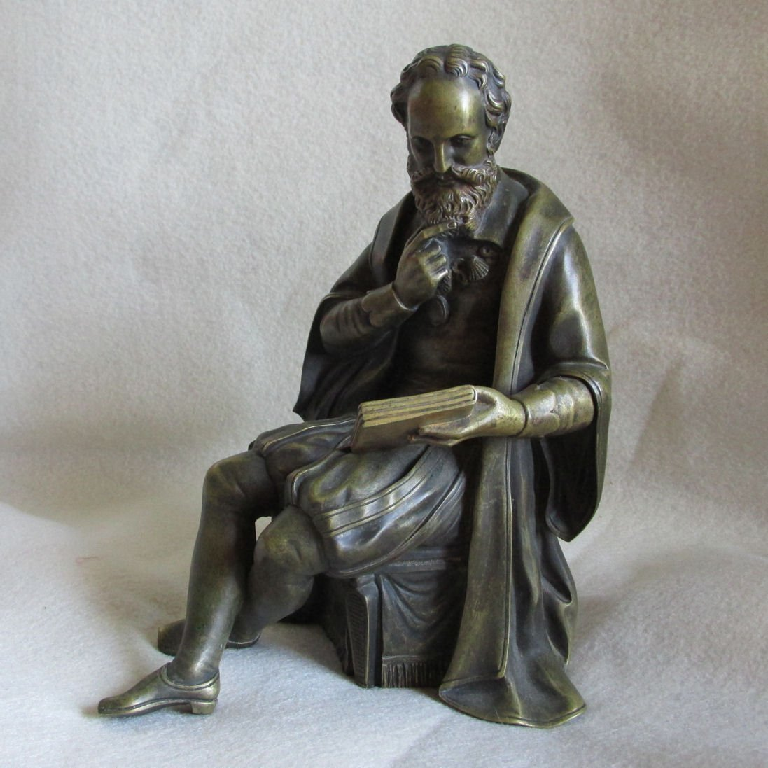 French Bronze Sculpture of Contemplative Gentleman