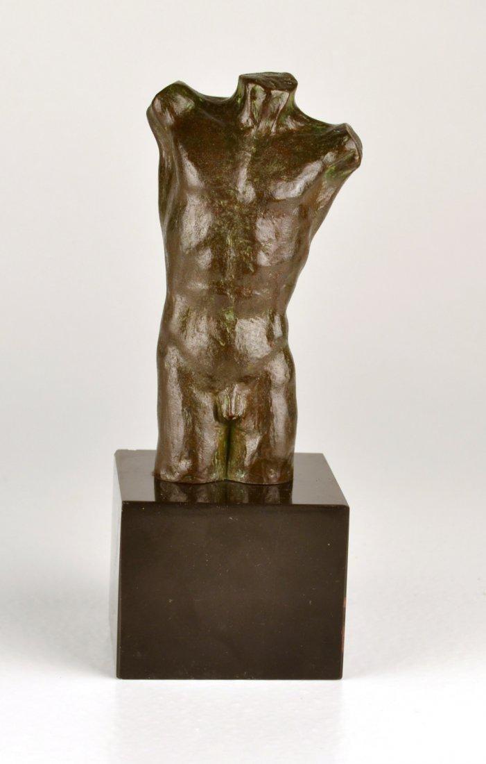 Antique Bronze Torso of a Nude Male