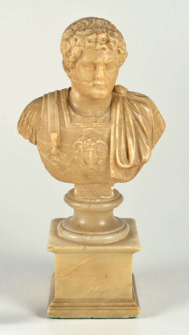 Antique Italian Grand tour alabaster bust of Hadrian