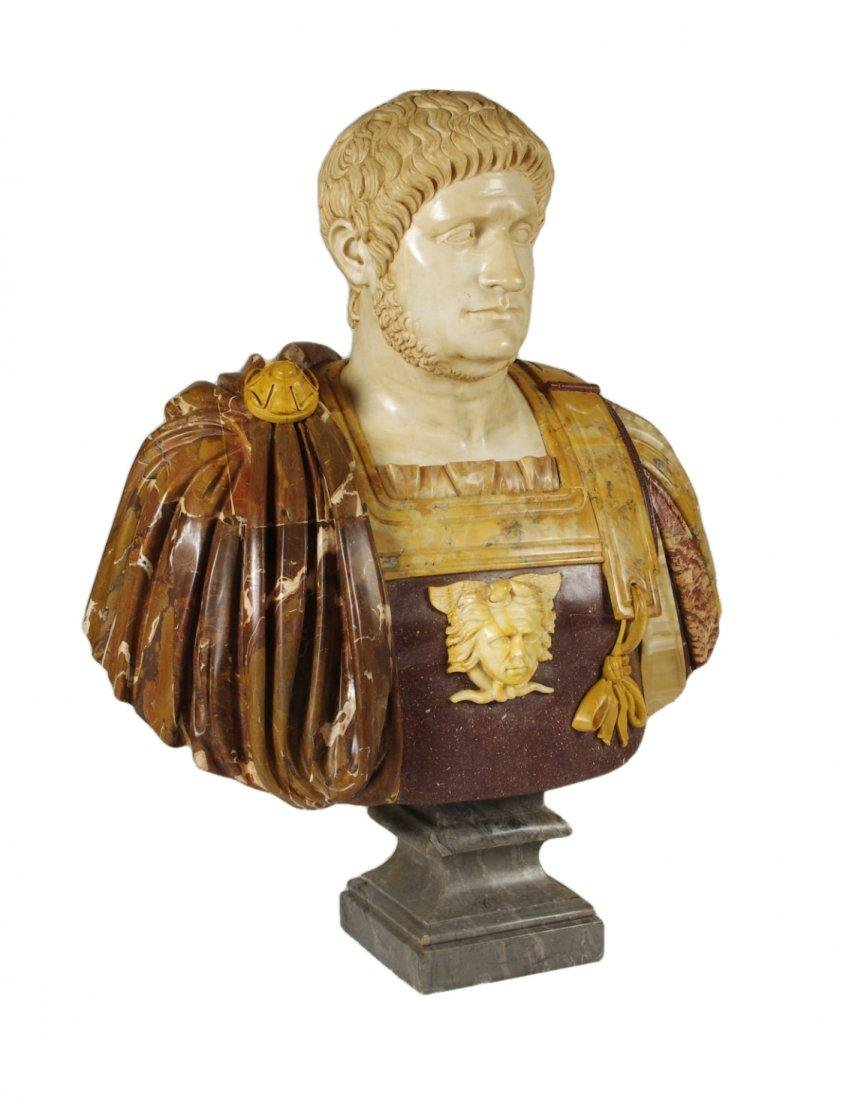 Marble and Porphyry Bust of the Emperor Nero