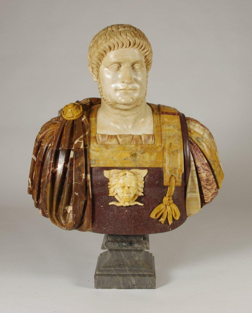 Marble and Porphyry Bust of the Emperor Nero - 2