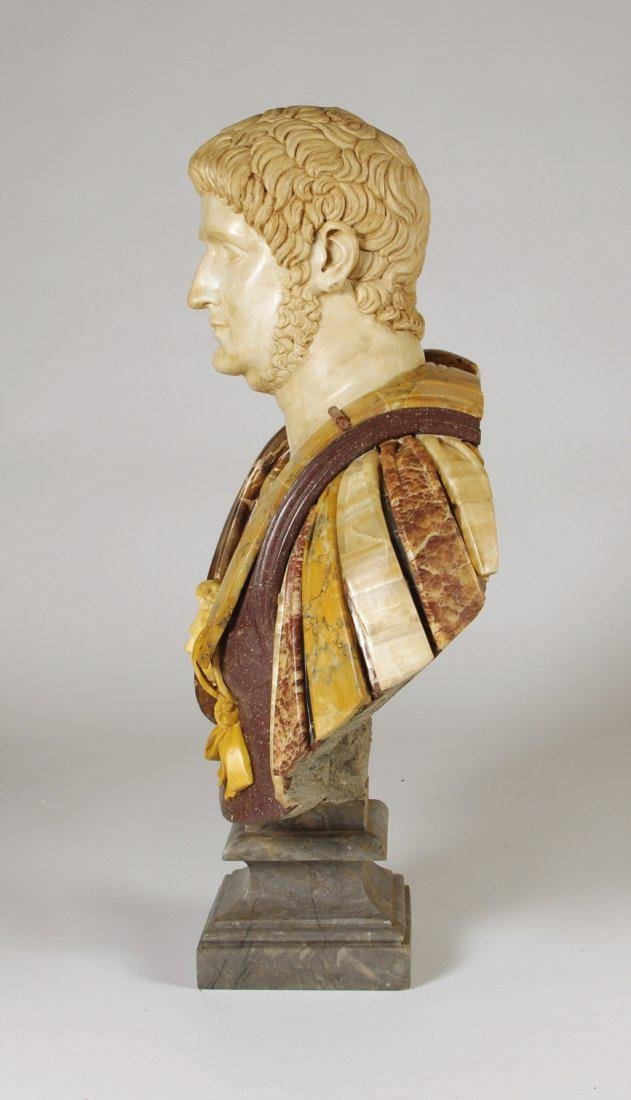 Marble and Porphyry Bust of the Emperor Nero - 4