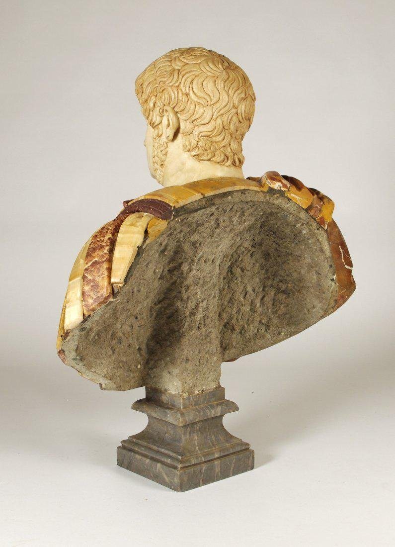 Marble and Porphyry Bust of the Emperor Nero - 5