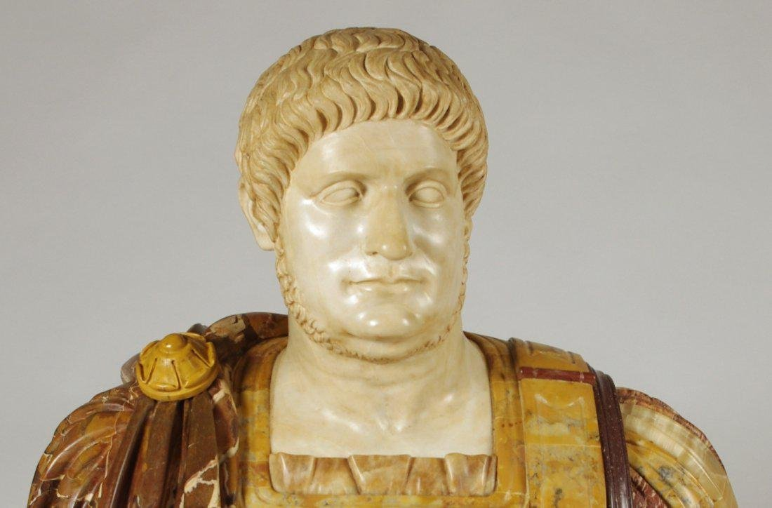Marble and Porphyry Bust of the Emperor Nero - 7