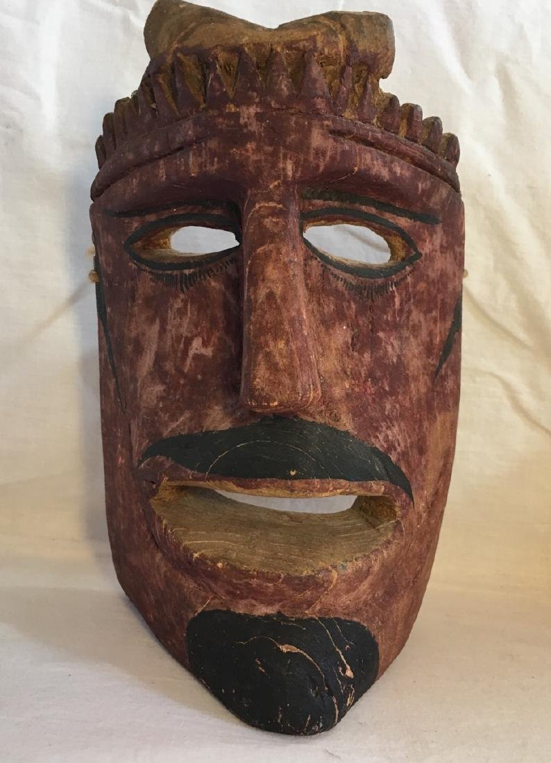 Early 19th C Diablo Hand carved and painted Parade Mask