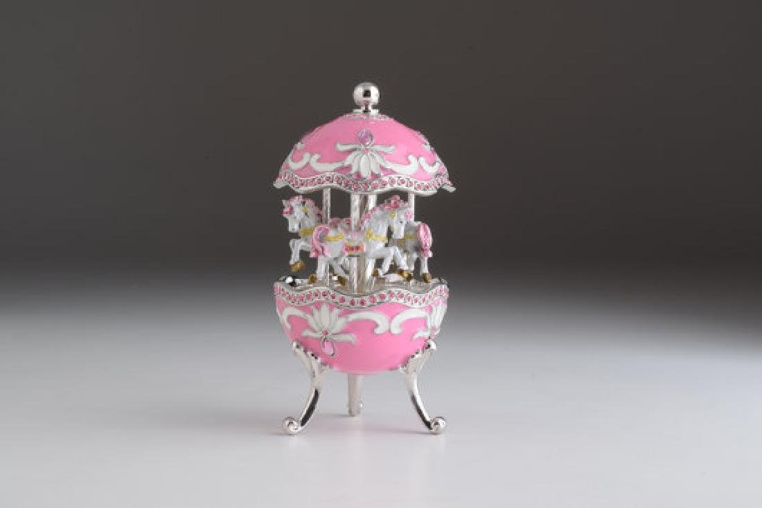 Fabergé Style Egg - Music Carousel with horses