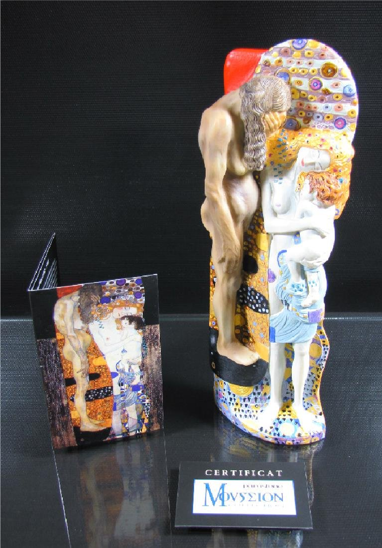After Gustav Klimt: Three stages of Woman life statue - 2
