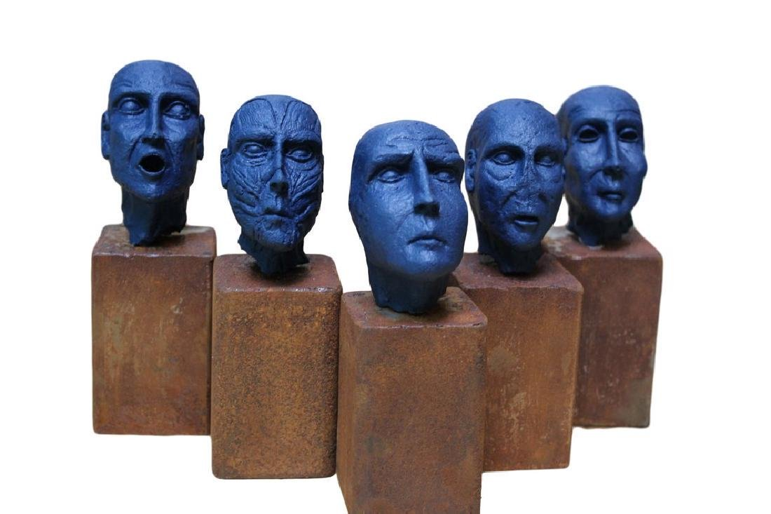 Pancho Porto Sculpture 5 kings (blue edition)