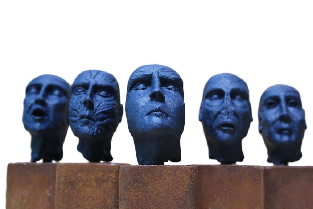 Pancho Porto Sculpture 5 kings (blue edition) - 2