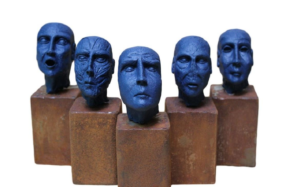 Pancho Porto Sculpture 5 kings (blue edition) - 3