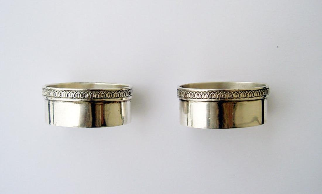 Pair of Scandinavian Silver Salts, Early 20th Century