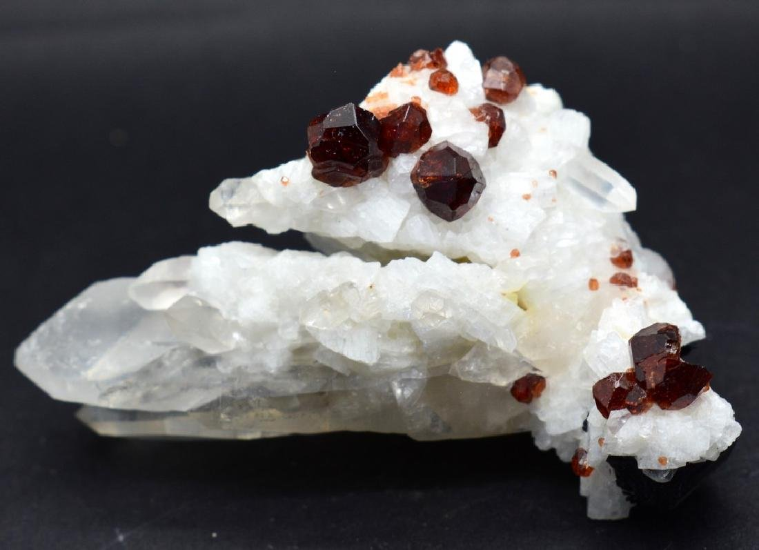 Natural Garnet combine Specimen With Quartz and Albite - 5