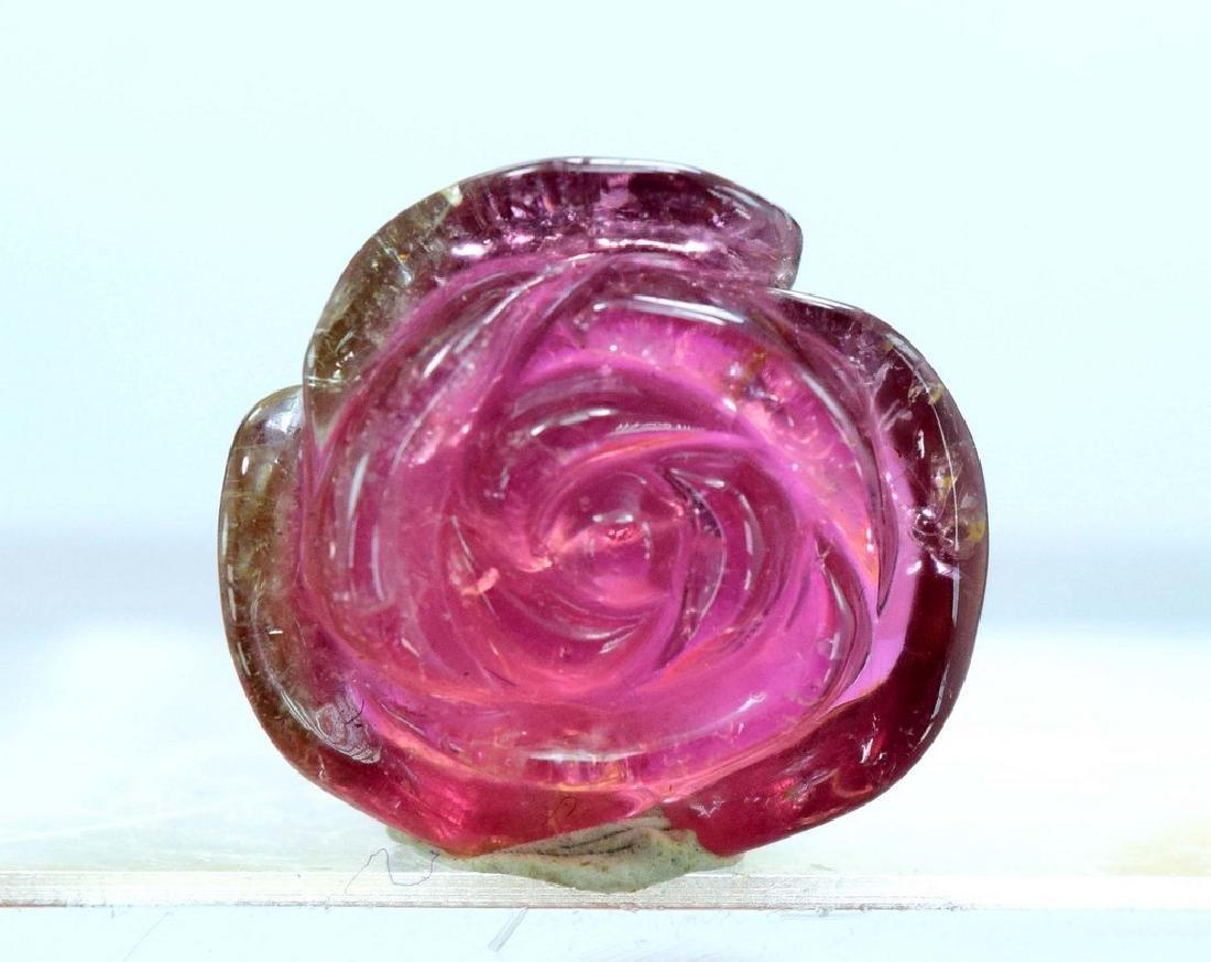 Natural Watermelon Tourmaline Carving