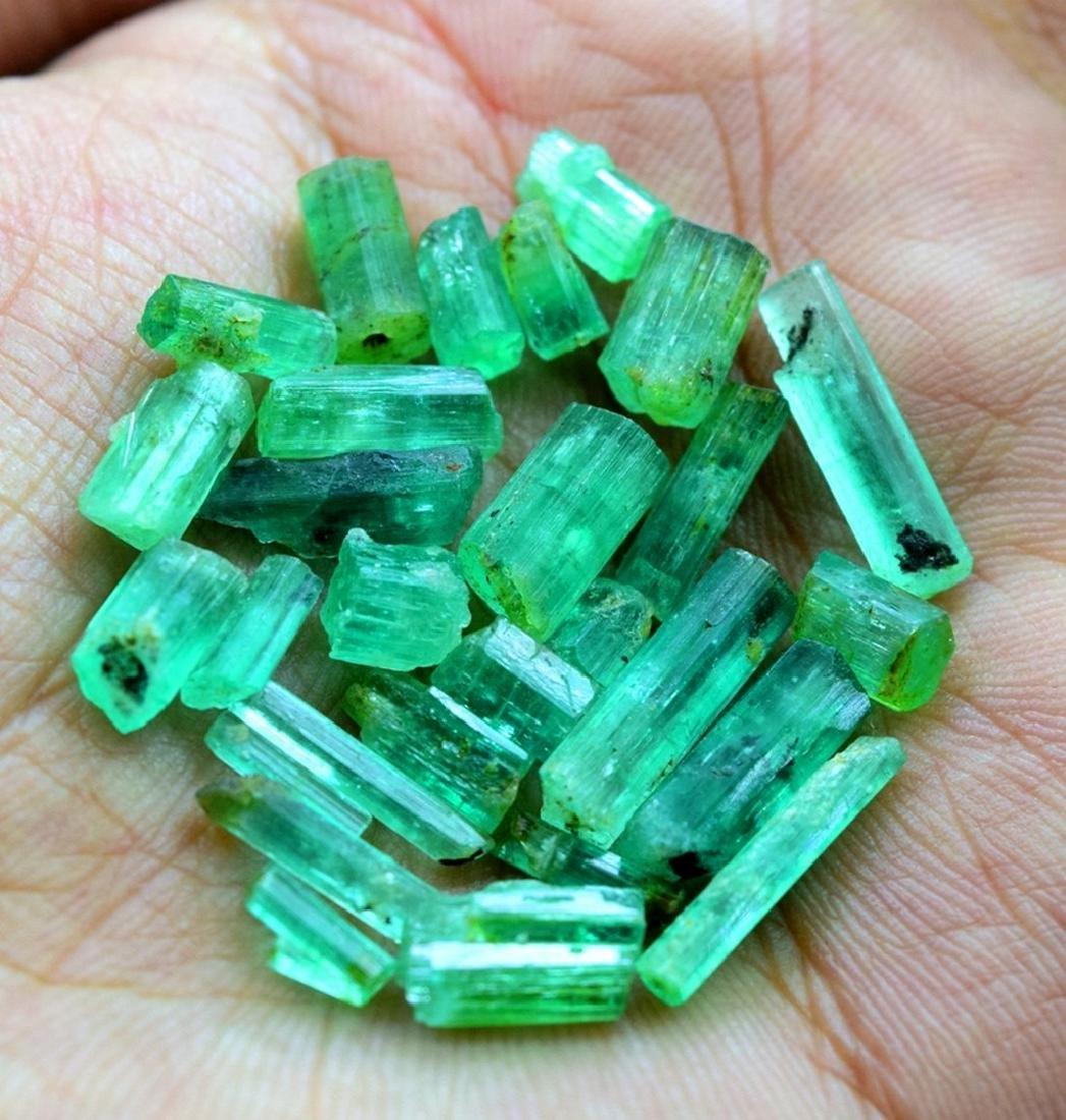 28.50 carats emerald crystals
