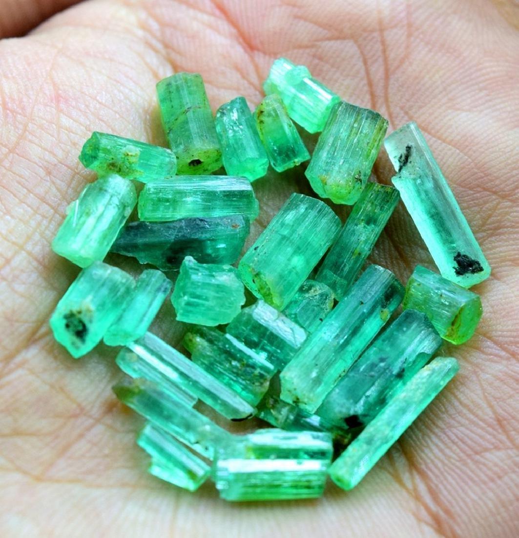 28.50 carats emerald crystals - 3