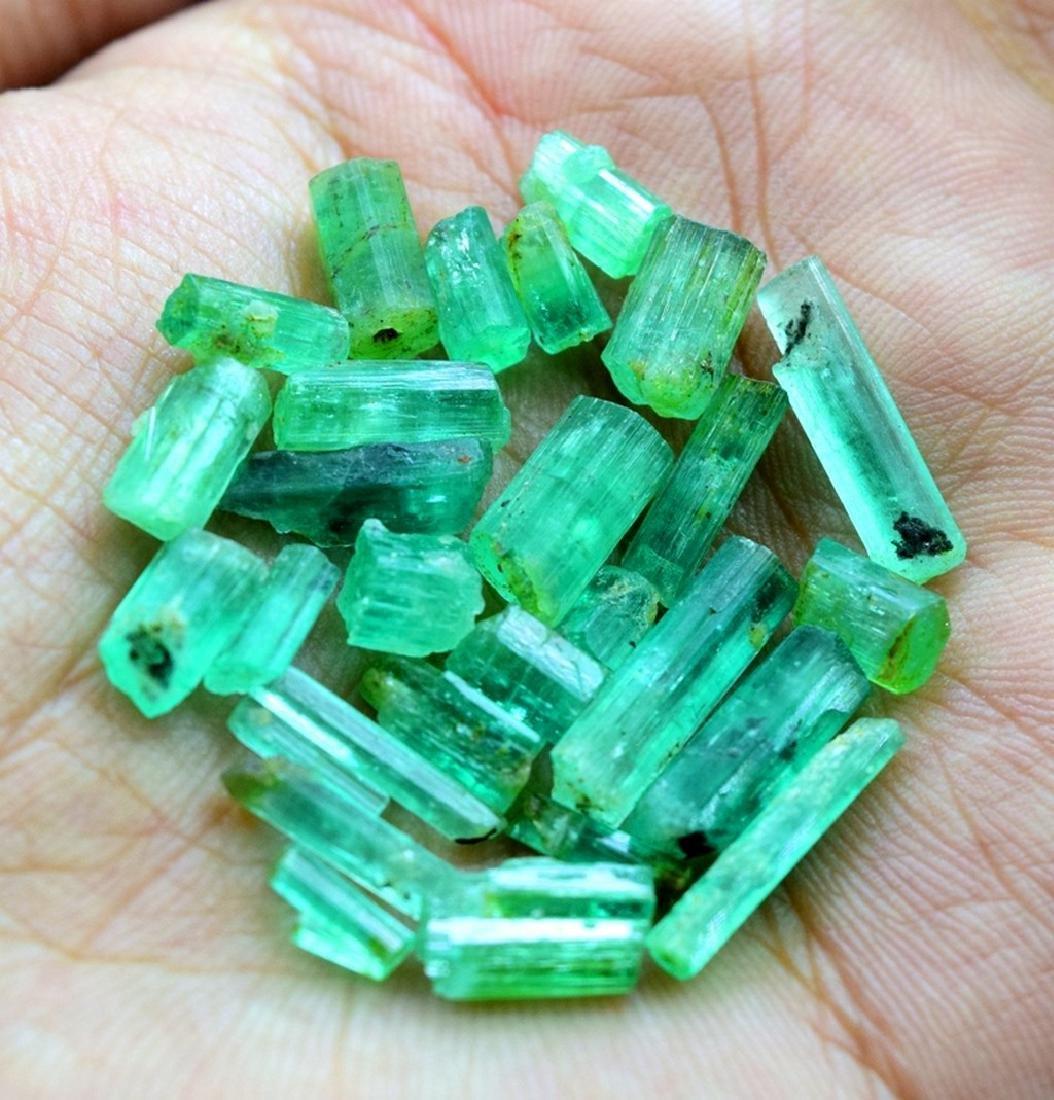 28.50 carats emerald crystals - 4