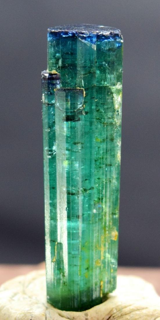 Terminated Blue Cap Tourmaline Crystal