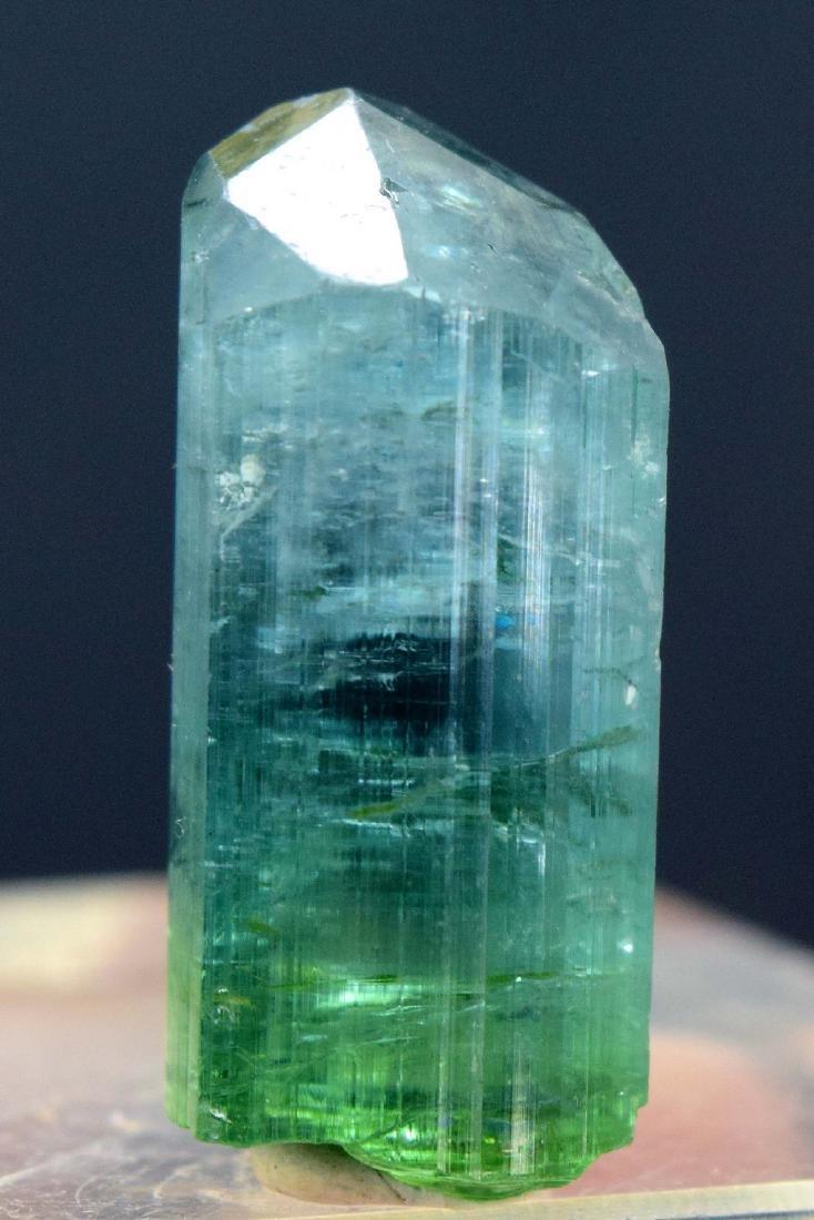 Terminated Natural Blue Green Tourmaline gem Grade - 4