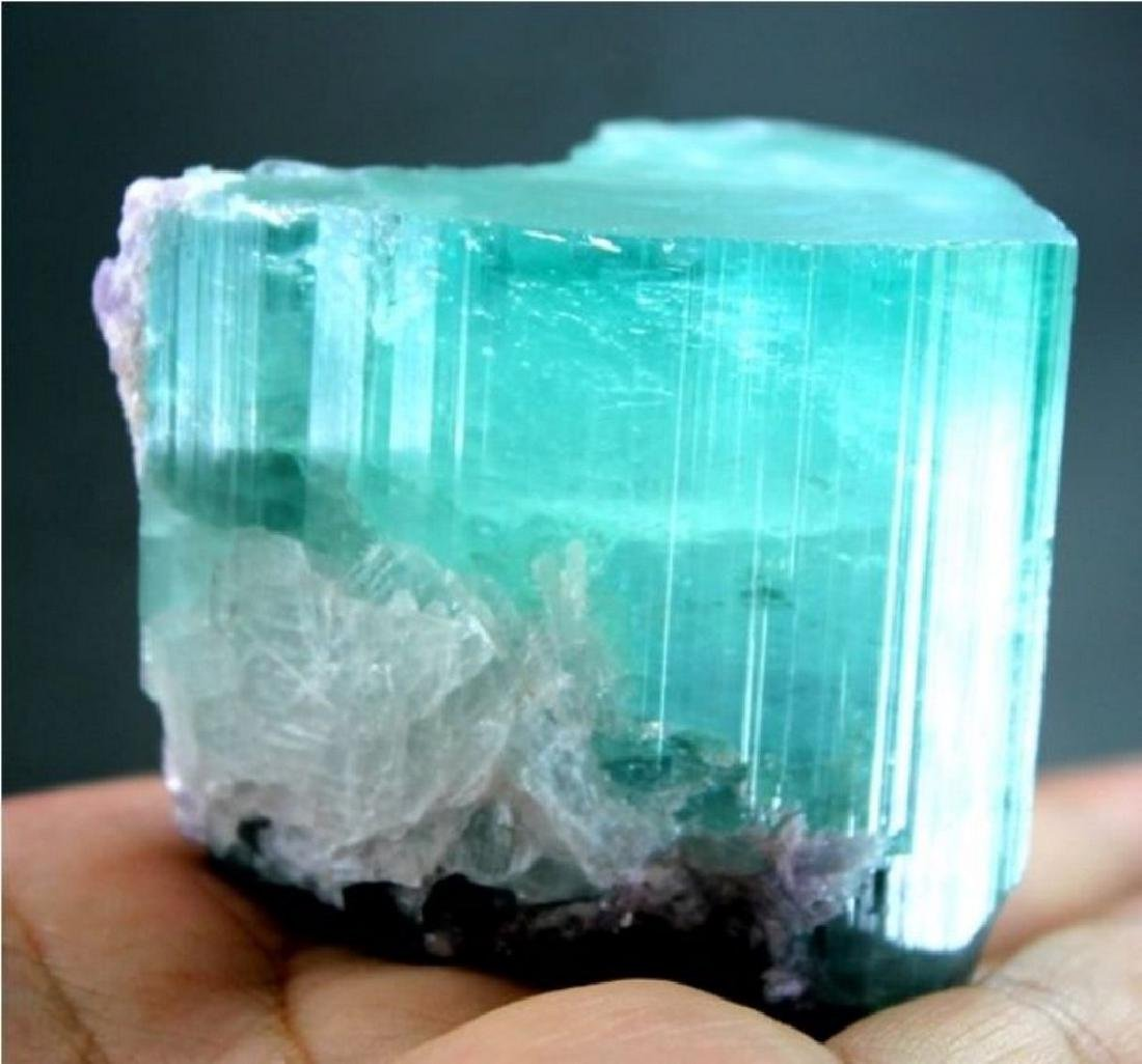 Huge Size Terminated Paraiba Color Natural Tourmaline