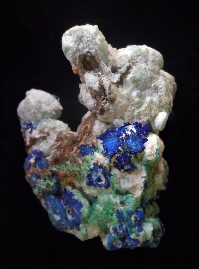 Azurite, Conichalcite & Malachite
